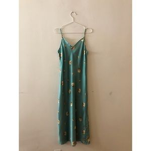 Floral green cami dress